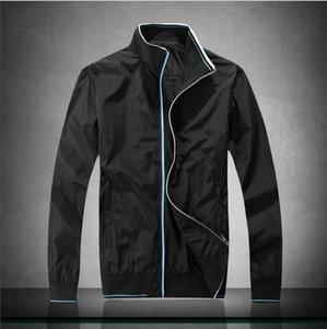 2020 Nueva PB1911 Hombres Primavera capas de las chaquetas casual color sólido del collar del soporte chaquetas rompevientos otoño caliente Streetwears Correr Abrigos
