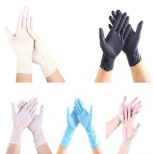 Tek kullanımlık Nitril eldiven 3 renkler 100 adet siyah eldiven Bulaşık ev hizmeti Catering hijyen mutfak Bahçe temizlik eldivenleri Toptan
