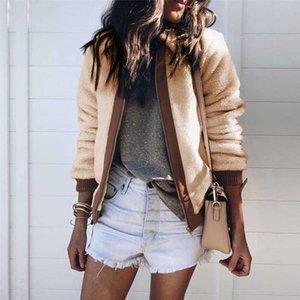 Ceket Moda Oyuncak Coat Casual Uzun Kollu teslimi Aşağı Yaka Jakcet İçin Kadınlar yukarı Moda Sonbahar Kış Sıcak Zip