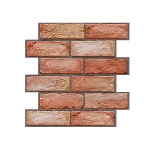Papel de parede 3D Tile tijolo PVC Espuma Etiqueta Início Decalque Fundo auto-adesivo