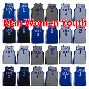 ncaa Duke Blue Devils basketball jerseys 3 Tre Jones 1 Vernon Carey Jr. Kevin Irving jersey any name number man women youth S-5XL