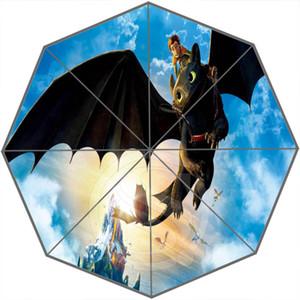 How to Train Your Dragon Custom Personalized Portable Triple Foldable Sun and Rain Umbrella Decorative Umbrellas SQ0624-LQT5