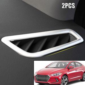 Hyundai Elantra AD 2017-2018 용 Chrome Air Vent Cover 트림 베젤 아울렛 프레임