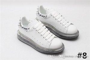 Şeffaf Kauçuk Taban ile Aşıklar Boy Sneaker, Buzağı Deri Mens Womens Dantel-up Sneaekers Renkli Çizmeler ile Boyutu 34-45
