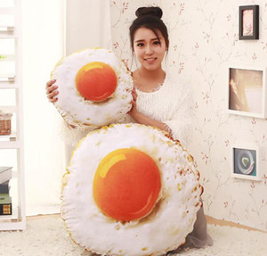 3D Cojín Huevo Frito Cojines Decorativos Cojines con Sofá Interno Lavable Juguetes Almohada de Dormir Regalo de Navidad de Cumpleaños