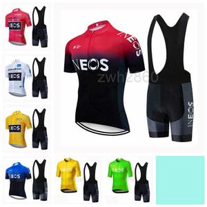 Uomini INEOS Team Cycling Jersey Estate Manica Corta set Bib Shorts Usura Della Bicicletta Abbigliamento Sportivo Camicia Abbigliamento S2042014
