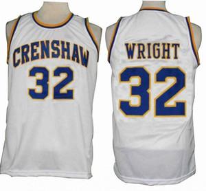 Custom made Love and Basketball Movie Jersey L 32 Monica Wright Crenshaw High School uomo donna giovanile pullover di pallacanestro taglia S-5XL
