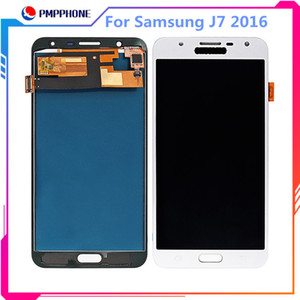 Alta qualidade lcd + touch screen para samsung galaxy j7 2016 j710j710f j710m j710h display lcd assembléia digitador 5.5 polegada