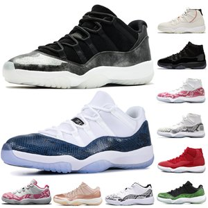 Sconto limitato Low 11s Scarpe da pallacanestro Low Barons Georgetown Snakeskin Navy Jumpman Concord 11 Rose Gold Rose da donna Sport Mens Sneakers