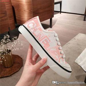 Señoras clásicas zapatillas de deporte casuales elegantes impreso transpirable lienzo y zapatillas de deporte de carreras de montaña plana cómodo con la caja original