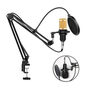 BM800 конденсаторный Аудио 3,5 мм проводной микрофон профессиональный студийный микрофон для веб-трансляции радио пение держатель микрофона