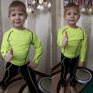 Çocuklar için Çocuk spor giyim Kış Termal İç Giyim Çocuk Suit Spor giyim Çocuk Rashgard Sıkıştırma Spor Suits kiti