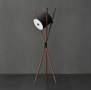 Nordic Tripod Led Floor Lamp Shift Lamp Modern Wood Standing Lamps for Living Room Bedroom Reading Home Light Fixtures Decor LLFA