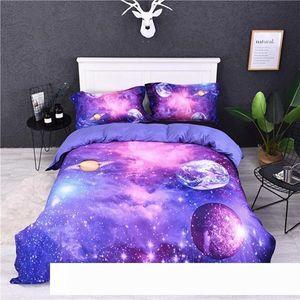 A 2019 New Fantasy Planet Hd Digital Flower Pattern Duvet Cover Set 2 3pcs Quilt Pillowcase Single Twin Double Queen King Bedding Sets
