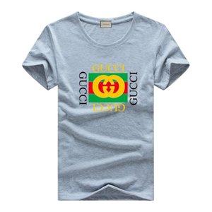 Louis Vuitton GUCCI 2019 neue mann T Shits Brief Druck Lässige Baumwolle Komfort Rundhalsausschnitt Mode 2019 Herren T-shirts f2