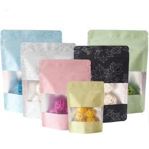 многоцветной Resealable Zip Майларовый сумка для хранения продуктов Фольга Zipper мешки с Clear Window Алюминиевая фольга мешки пластиковая упаковка мешок