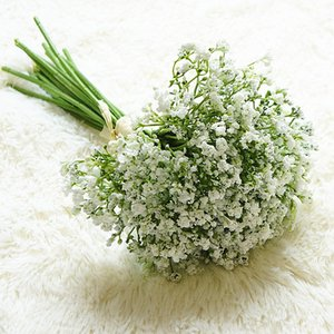 16pcs / set Bambini Breath Flowers Artificial Flowers Fale Gypsophila FAI DA TE Bouquet floreale Disposizione Matrimonio Casa Giardino Decorazione del partito