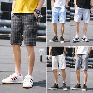 Pantalones cortos casuales para hombres Plaid Gym Fitness jogging Running Sports Wear Shorts