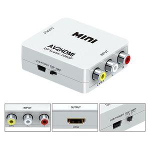 Adattatore da HDMI a RCA CVBS Adattatore video 1080P Adattatore per convertitore HDMI2AV Supporto NTSC PAL Uscita da HDMI ad AV