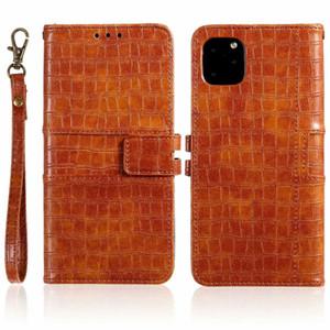 Pour iPhone 11Pro X Xs XR Xs Max 7 8 Case Couverture PU cuir de luxe Wallet Couverture pour Galaxy Note 20 S20 S10 10 Plus étui en cuir PU