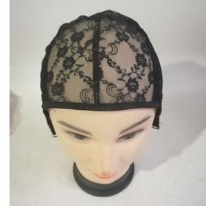 Kadın Dantel Peruk Kapaklar Net Cap Başlık Şapka Ayarlanabilir Kayış ile Siyah Örgü Malzeme Peruk Başlık Mesh Izgara Saç Uzatma