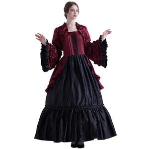 boule de Victorien steampunk Femmes Rétro Vintage Lolita manches bouffantes Reenactment cosplay costume médiéval robe de soirée