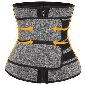 Premium Neoprene Waist Trainer Slimming Belt Body Shaper Bands Double Straps Cincher Corset Fitness Sauna Sweat Belt Girdle Shapewear DHL