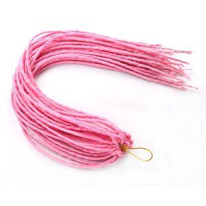 20 Inch dreadlocs crochet braids synthetic crochet hair 100g pc faux locs crochet goddess locs afro braiding hair