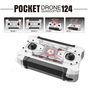 Barato FQ777-124 Pocket Drone 4CH 6 Eixos Quadcopter Gyro Drones Com Controlável Comutável Uma Chave Para Retornar RTF UAV RC Helicóptero Mini Drones