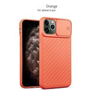 Nouv TPU anti-rayures antichocs cas de téléphone pour l'iPhone 11 Pro Max XR XS Max 8 plus avec Fenêtre coulissante horizontale
