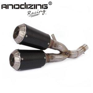Motos de escape completo stystem tubo de meio + Silenciador para Deslizamento-On