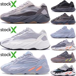 최고 품질의 700 카니 예 웨스트 틸 블루 자석 단단한 회색 Desiger 신발 병원 블루성 V2 정적 유틸리티는 흑인 남자들이 실행하는 여성 스니커즈