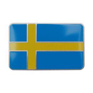 3D Aluminium Pole Bright Emblem Sweden Flag Car Sticker Badge Decals for Volvo V40 V50 V70 S80 XC60 S60 V60 XC90 S40 XC70