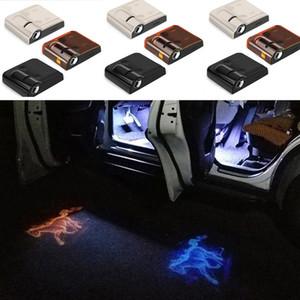 1PCS LED sans fil de porte de voiture Bienvenue Projecteur laser Logo Fantôme Ombre Lumière pour Volkswagen Ford BMW Toyota Hyundai Kia Mazda Audi