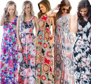 Vente chaude rétro robes femmes Maxi robe des femmes sexy réservoir Chine vêtements Fabricant Grossiste 2019 d'été gratuite DHL