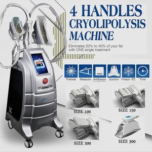Upgraded Cryolipolysis Fat Freezing Slimming Machine Fat Reduction Fat Reduction 4 Handle Cryolipolysis Can Work Together