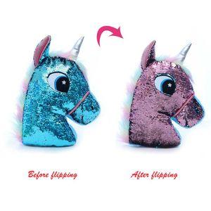 Sequined Unicorn Doll Plush Toy Owl Cactus Pillow Doll Plush Toy Doll Plush Animal Toy Child Birthday Gift