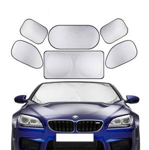 Coches parabrisas plegable del visera de Sun de la cubierta de sombra Heat Shield Bloque ventana delantera de la sombrilla UV Protect Auto parasol coche-cubre 6 pieza