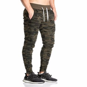 2020 Casual Fitted Tracksuit Bottoms Camouflage Gym Pants Mens Sports Joggers Elastic Sweat Pants Gym Bodybuilding Sweatpants
