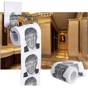 Wholesale- Fun Humour Toilet Paper Roll Funny Novelty Gag Gift Dump With Trump Fashion Toys For ChildrenFXbB#