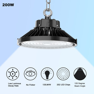 ETL DLC 5000K UFO LED High Bay Light 240W 200W 150W LED Shop Lights Indoor Outdoor Light Factory Station Warehouse Lighting