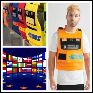 Westen hiphop MC VEST RAPPER BAR TANK TOP Art und Weise neues Design Top-Straße Mode-Ikonen US-Flagge