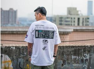 Марка лето дизайнер INS NASA печатные мужские футболки хип-хоп повседневная уличная одежда Harajuku Hipster футболки с коротким рукавом MaleT футболки SDL04