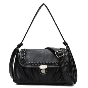Designer-Crossbody Bags For Women Messenger Bags 2019 Vintage PU Leather Bags Handbags Women Famous Brand Small Shoulder bag