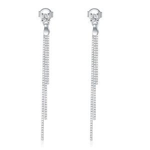 Exquisite Women Earrings Dangle Chandelier Jewelry Drop Dangle Solid 925 Sterling Silver Earrings Fashion Wedding Bridesmaid Birthday Gift
