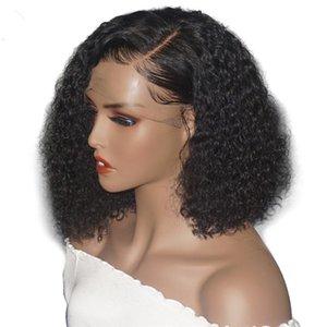 Kinky Curly Full Lace Wigs Baby Hair Brazilian Curly Lace Frontal Human Hair Wigs Brazilian Deep Wave Virgin Hair For Black Women