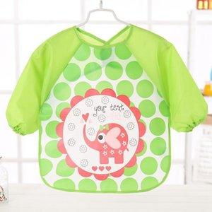 Bavaglino, impermeabile a manica lunga Bib, Grembiule per bambini Shirt 5 Pezzi, Adatto per bambini, bambini, ragazzi e ragazze, Protect