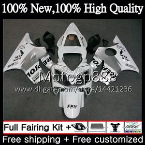 Corpo Para HONDA CBR600FS Repsol branco CBR600F4i CBR600 F4i 01 02 03 43PG4 CBR 600F4i CBR600 FS CBR 600 F4i 2001 2002 2003 Carenagem Carroçaria