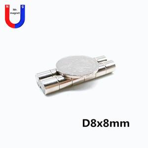 50PCS 8mm X 8mm 슈퍼 강한 자석 D8x8mm의 8x8 8 * 8 8x8mm 영구 희토류 자석 imans