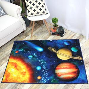 Tapis de gros Lavable Impression HD Enfants Polyester Chambre de nuit Cartoon Planète Bébé Crawling doux Durable Tapis DH0627 T03